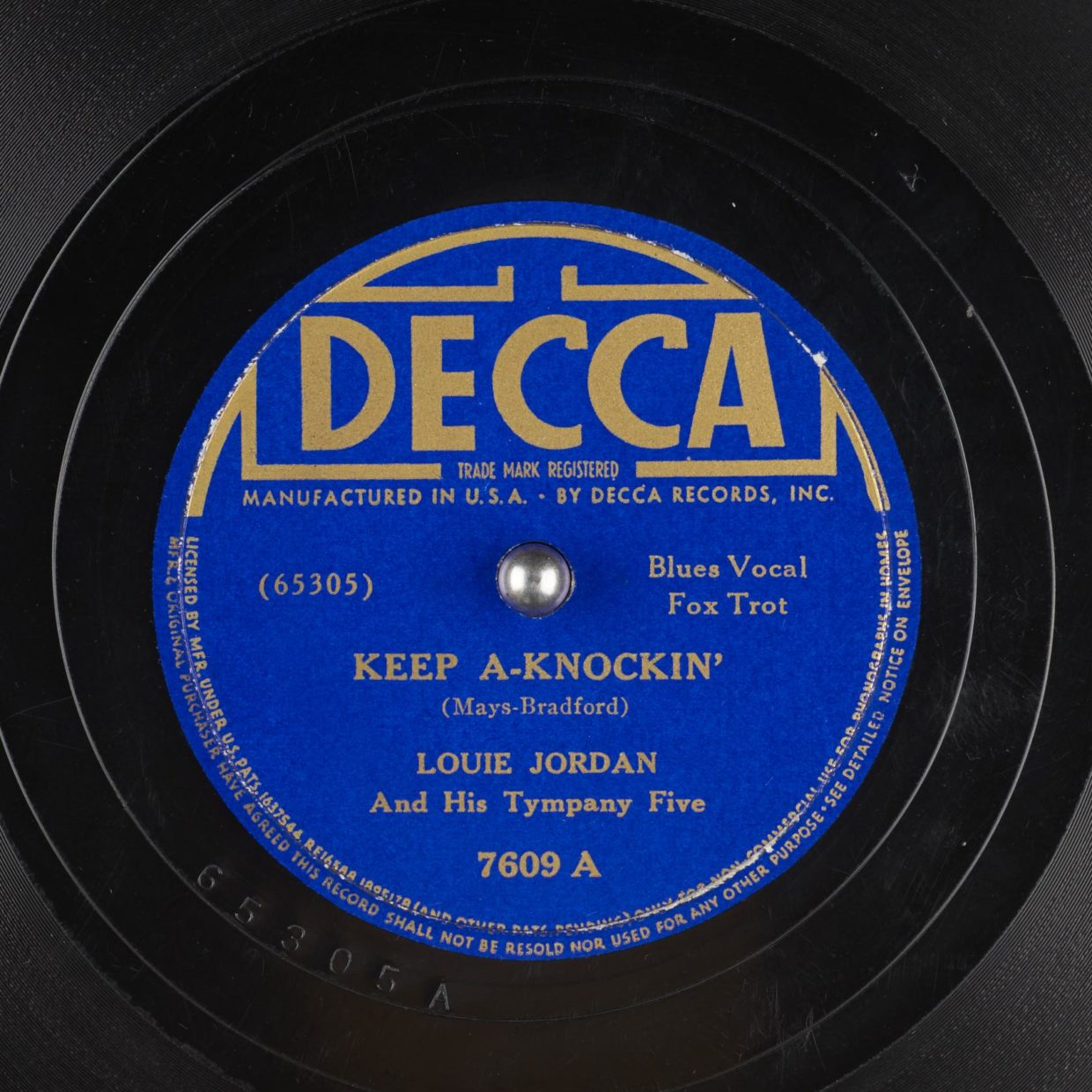 Above is an image of the original Keep A Knockin' record.